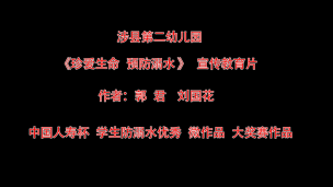 【二等奖】刘国花、郭君涉县第二幼儿园-珍爱生命,远离溺水