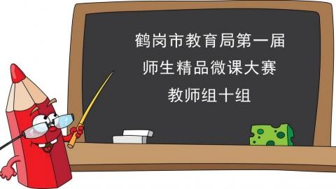 鹤岗市第一届微课大赛教师十组
